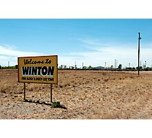welcome to winton Photographic Print