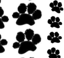 Paw Prints Pattern Sticker