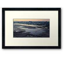 A cold, windy afternoon in the coast of Thessaloniki Framed Print