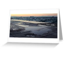 A cold, windy afternoon in the coast of Thessaloniki Greeting Card