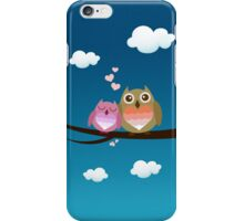Lovely Cute Owl Couple Full of Love Heart iPhone Case/Skin