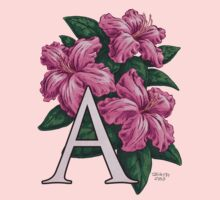 A is for Azalea - full image Kids Tee