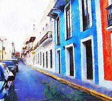 Old San Juan's Street by Charlie Roman
