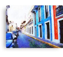 Old San Juan's Street Canvas Print