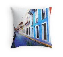 Old San Juan's Street Throw Pillow