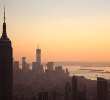 Empire State at Sunset by copacic