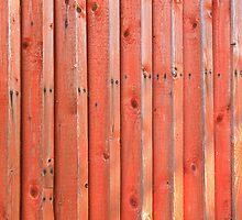 Red plank wall by Kristian Tuhkanen