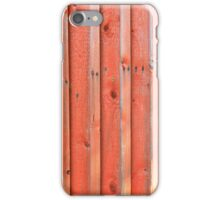 Red plank wall iPhone Case/Skin