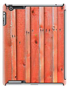 Red plank wall by Kristian Tuhkanen