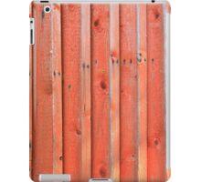 Red plank wall iPad Case/Skin