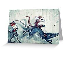 Rat race Greeting Card