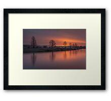 Sunrise Over The River Eden Framed Print