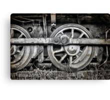 Vintage Train Wheels Canvas Print