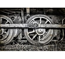 Vintage Train Wheels Photographic Print