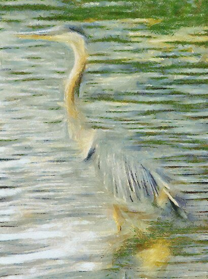 Blue Heron by leapdaybride