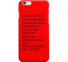 Fight Club Rules iPhone Case iPhone Case/Skin