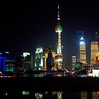 Shanghai - Pudong by Night by Jean-Luc Rollier