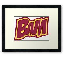 BAM Comic Sound Effect T-Shirt - Red Framed Print