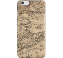 Province of Nova Scotia Canada Map (1776) iPhone Case/Skin