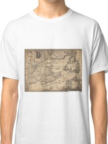 Province of Nova Scotia Canada Map (1776) Classic T-Shirt
