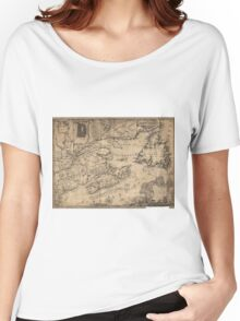 Province of Nova Scotia Canada Map (1776) Women's Relaxed Fit T-Shirt