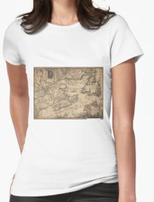 Province of Nova Scotia Canada Map (1776) Womens Fitted T-Shirt