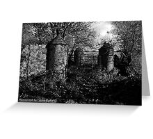 Stone Pillars, Clovervale, Abandoned Country House, County Antrim Greeting Card