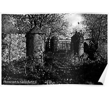 Stone Pillars, Clovervale, Abandoned Country House, County Antrim Poster