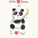 Panda Love by twisteddoodles