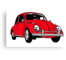 Red Volkswagon Beetle Canvas Print