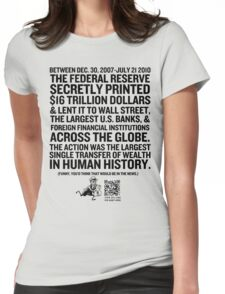 Federal Reserve Audit Shirt Womens Fitted T-Shirt