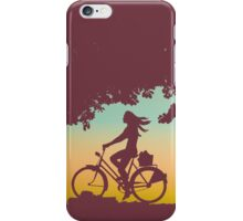 Retro Sunset Cyclist iPhone Case/Skin