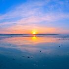 Sunset Over Brownsea Poole Harbour by delros