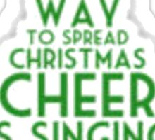 Elf Christmas Tree Sticker