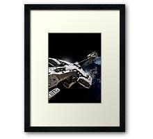 Space Battle Framed Print