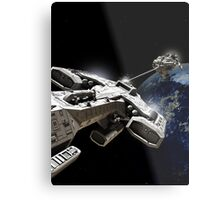 Space Battle Metal Print