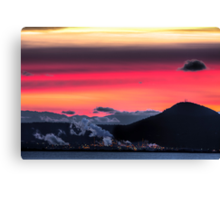 Sunset from Chuckanut Drive Canvas Print