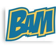 BAM Comic Sound Effect T-Shirt - Blue Canvas Print