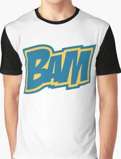 BAM Comic Sound Effect T-Shirt - Blue Graphic T-Shirt
