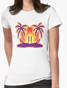 Sunset Love Womens Fitted T-Shirt