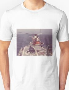Old Coast Guard Search and Rescue Orange Helicopter T-shirt T-Shirt
