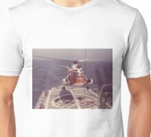 Old Coast Guard Search and Rescue Orange Helicopter T-shirt Unisex T-Shirt