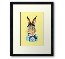 Nerd Bunny Framed Print