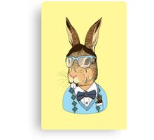 Nerd Bunny Canvas Print