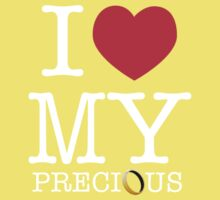 I Heart My Precious (The Hobbit / Lord of the Rings mashup) Kids Clothes