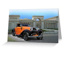 1930 Bugatti Convertible Coupe Greeting Card