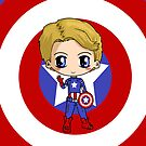 Marvel Avengers Captain America Chibi by IcyPanther