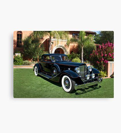 1930 Packard Twelve Custom Dietrich Coupe Canvas Print