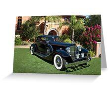 1930 Packard Twelve Custom Dietrich Coupe Greeting Card