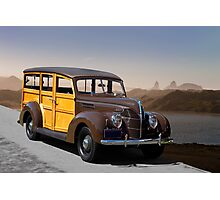 1939 Ford Delux Station Wagon Photographic Print